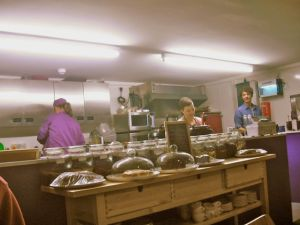 Happy staff in an open kitchen - such a nice sight