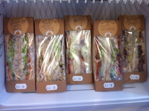 Gourmet to go vegan sandwiches