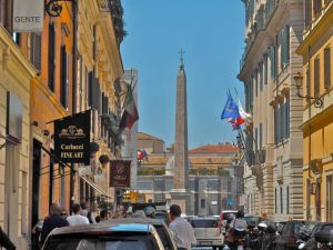 Piazza del Popolo is just around the corner