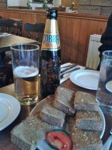 Beer & garlic bread