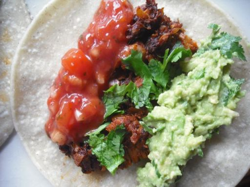 Vegan jackfruit carnitas made with Cool Chile tortillas