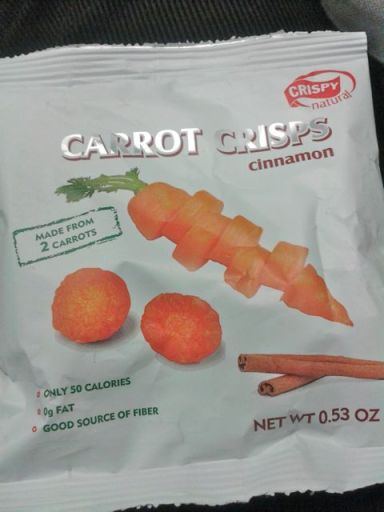 Carrot & cinnamon chips by Crispy Natural