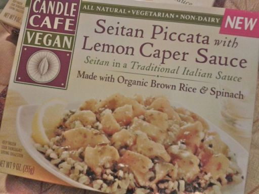 Seitan Piccata frozen meal by Candle Cafe