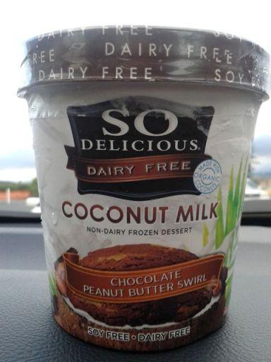 So Delicious coconut milk chocolate peanut butter swirl ice cream