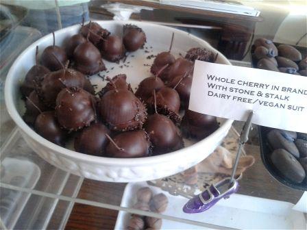 Brandy cherries dipped in chocolate