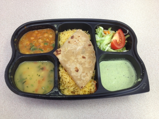 Takeaway vegan thali - is this the cheapest vegan lunch in London?