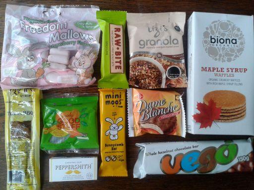 Inside my Vegan Tuck Box