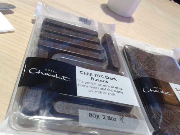 Dark chocolate & chilli batons