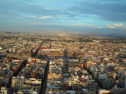 Mexico City from high