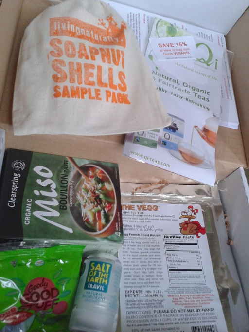 A vegan box delivered