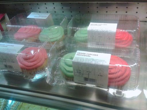 Vegan cupcakes at Whole Foods Market